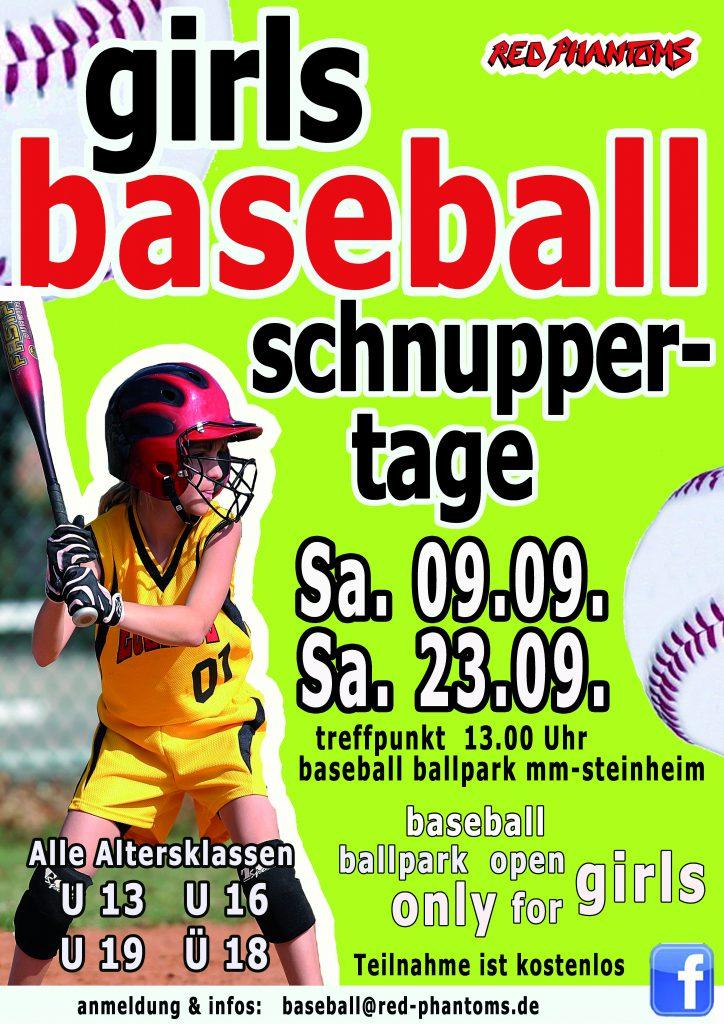 Girls Baseball Schnuppertage in Memmingen-Steinheim